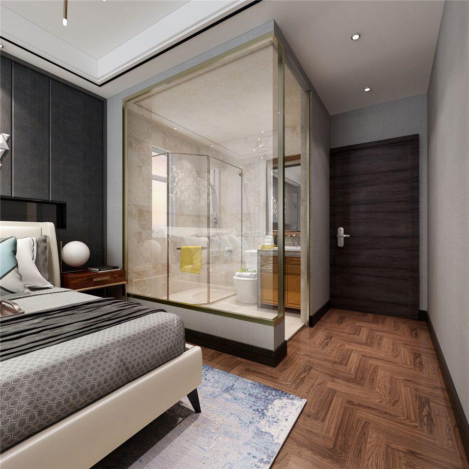 枫丹白露轻奢风格卧室卫生间装修效果图