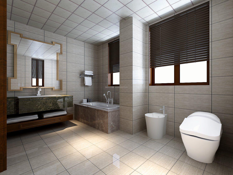 后现代家居卫生间瓷砖装修设计效果图片