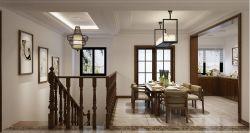 五渚河生態城350平復式餐廳裝修效果圖