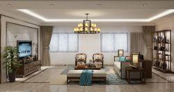 五渚河生態城350平復式客廳裝修效果圖