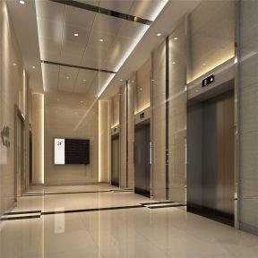 2018写字楼电梯装修效果图 电梯口装修设计效果图片