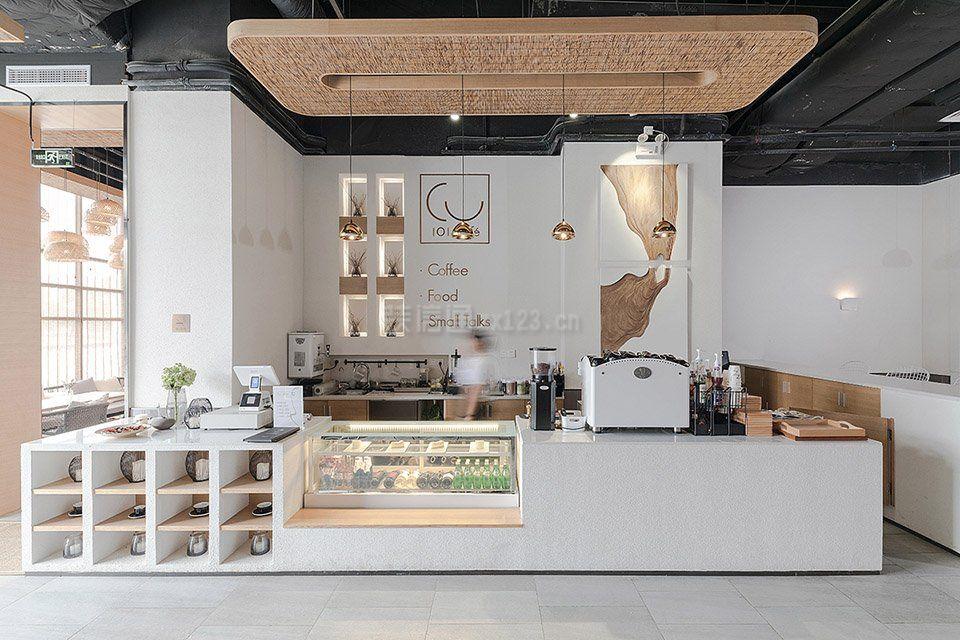 特色咖啡店吧台装修效果图图片