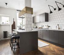 北欧风格厨房墙砖设计图片大全