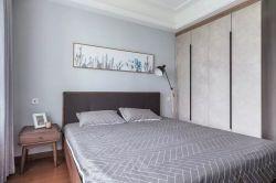 北歐風格臥室床頭背景墻畫設計圖片