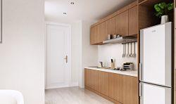 現代北歐風格廚房原木櫥柜裝修效果圖