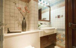 東南亞家裝衛生間洗手臺鏡子設計圖片