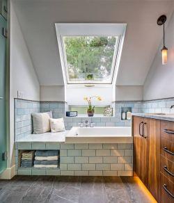 斜頂閣樓衛生間采光天窗設計圖片