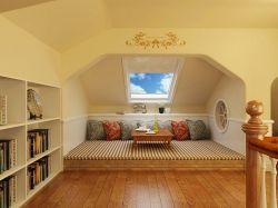 地中海風格斜頂閣樓天窗裝修效果圖