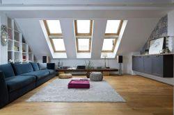 現代簡約斜頂閣樓天窗設計圖片
