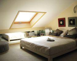 簡約風格斜頂閣樓天窗裝修圖片