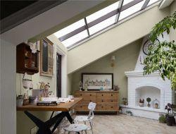 北歐風格斜頂閣樓天窗設計圖片