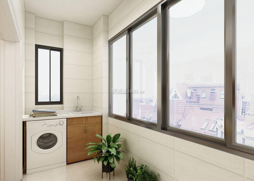 功能性阳台洗衣房墙壁瓷砖装修效果图