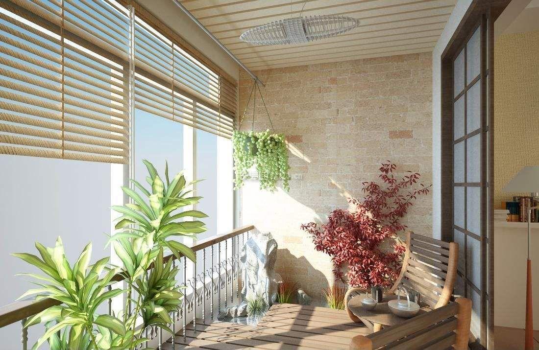 简约风格阳台墙壁装修效果图