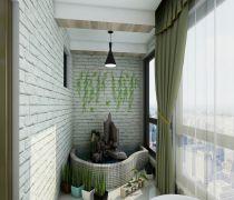 家装阳台墙壁装修效果图