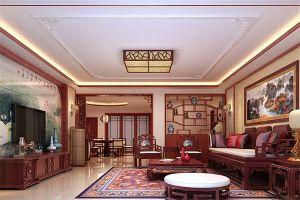 桂林廣源國際社區150平米三居室中式風格裝修案例賞析