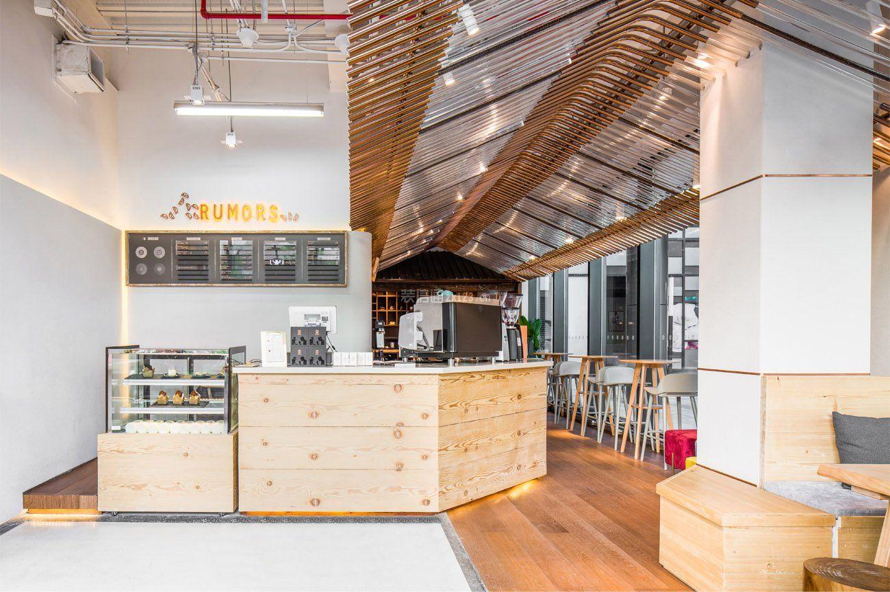 小型咖啡店收银台装修设计图片