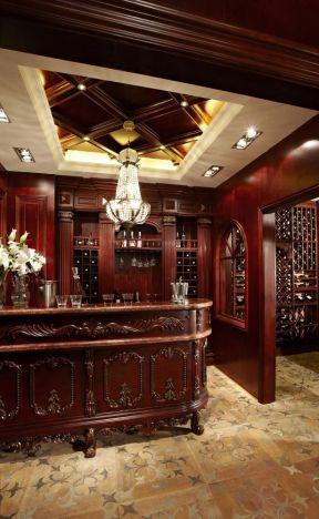 美式古典風格裝修 酒窖酒柜設計圖片