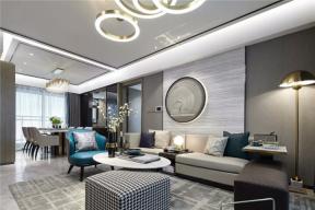 港式風格客廳效果圖 2018客廳沙發擺設圖片