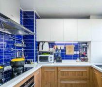 二居室厨房墙砖装修设计图2018