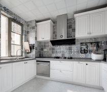 二居室厨房墙砖装修设计贴图