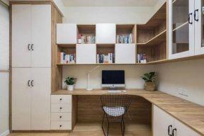 2018转角书桌书柜组合装修效果图 2018转角书桌书柜效果图图片