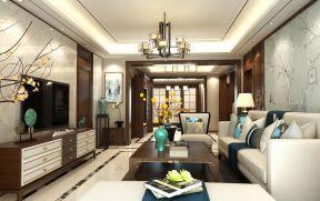 中式客廳墻紙 中式客廳擺放
