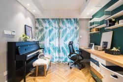 長江紫園89平米兩居室現代簡約風格裝修書房效果圖