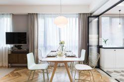長江紫園89平米兩居室現代簡約風格裝修餐廳效果圖