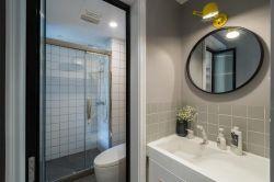 長江紫園89平米兩居室現代簡約風格裝修衛生間效果圖