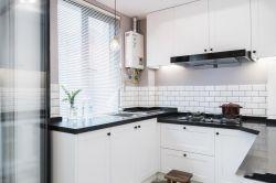 長江紫園89平米兩居室現代簡約風格裝修廚房效果圖