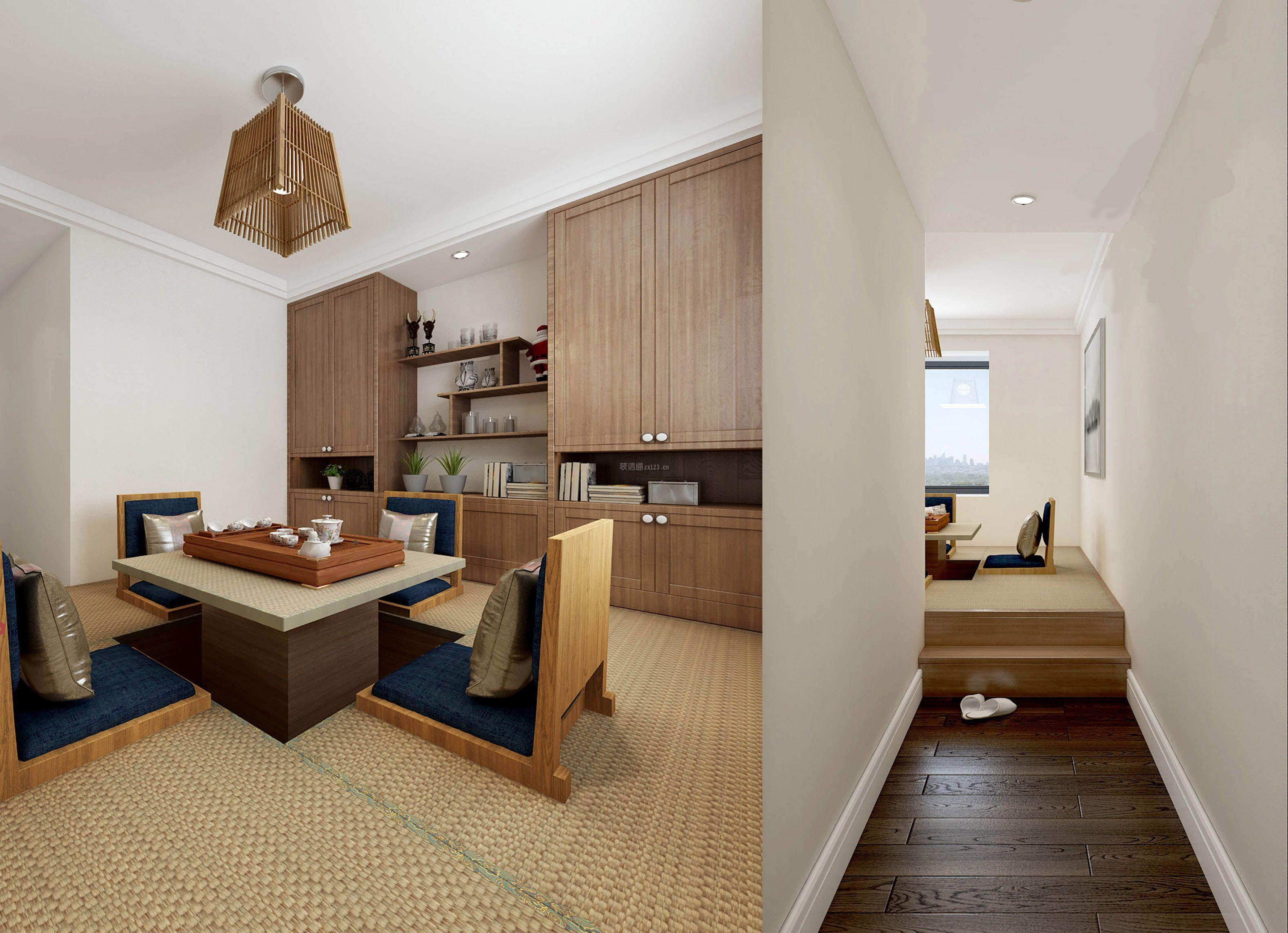 2018家庭茶室隔断装修设计效果图