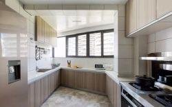 2018簡約風格u型廚房裝修設計圖片
