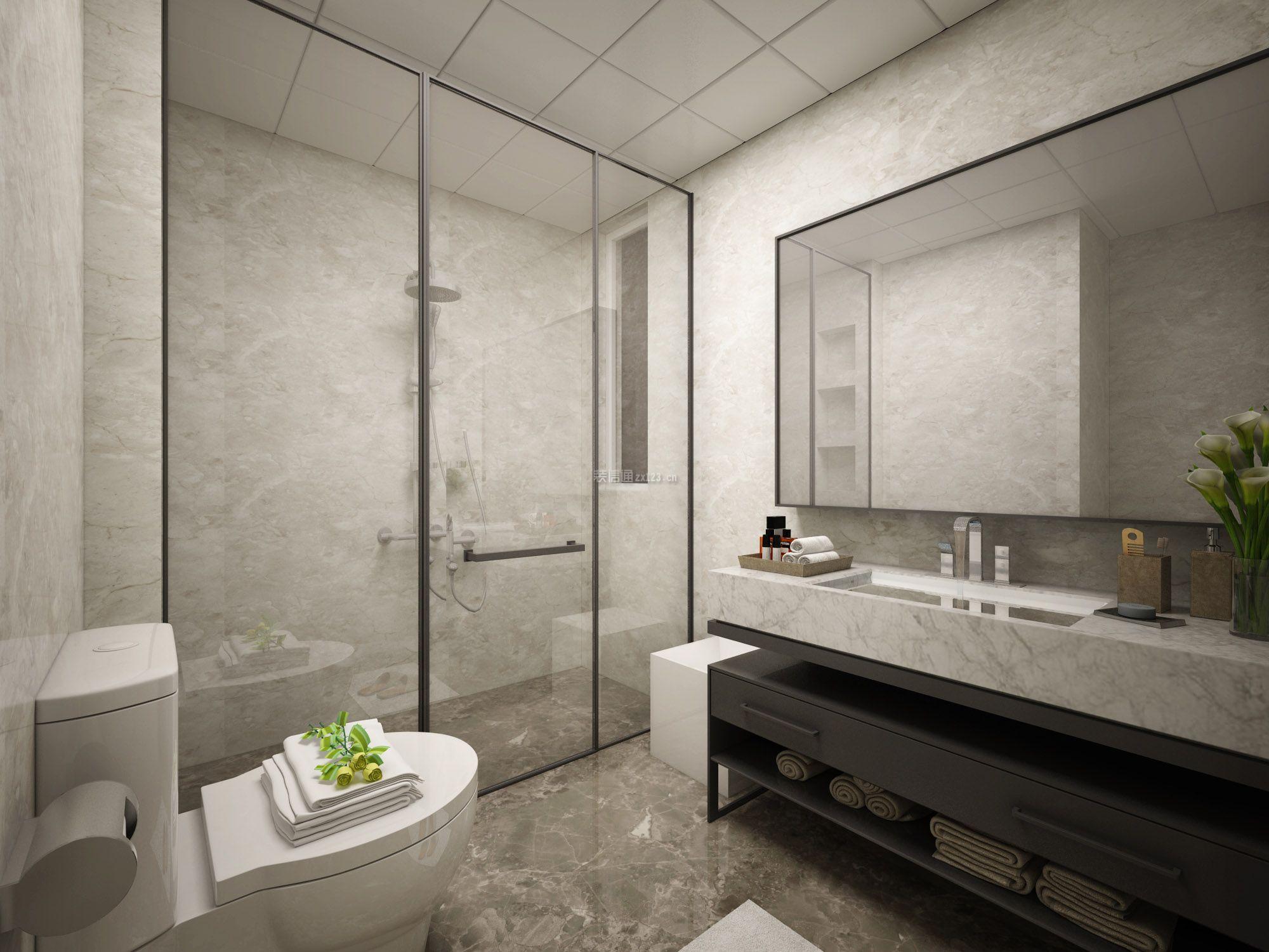 简约北欧风格家庭卫生间装修设计效果图