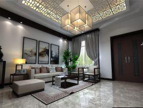 現代中式客廳吊頂效果圖 新中式客廳