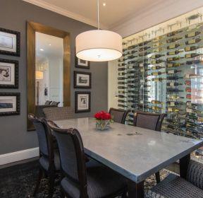 家用飯廳玻璃酒柜設計圖片大全-每日推薦