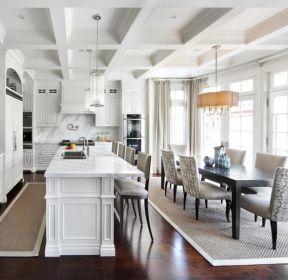 2018飯廳廚房一體設計圖片大全-每日推薦