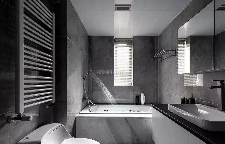 灰色家装浴室毛巾架装修效果图