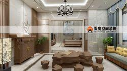 2018新中式風格別墅茶室裝修效果圖
