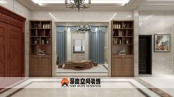 新中式風格別墅過道壁柜裝修效果圖