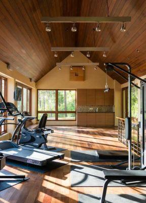 小木屋別墅圖片 室內健身房裝修效果圖 健身房裝修