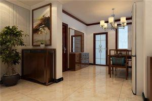 保定盛和嘉園150平米三居室新中式風格裝修案例欣賞
