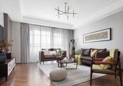 115平米房子客廳家具擺放設計圖