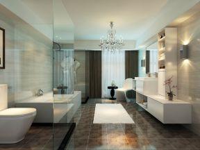 现代风格高档浴室地面瓷砖设计图片
