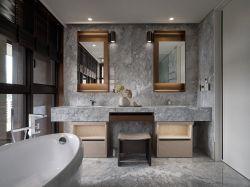 高級別墅浴室洗手臺鏡前燈裝修圖