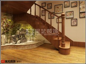 新中式樓梯裝修效果圖 2018新中式樓梯設計效果圖