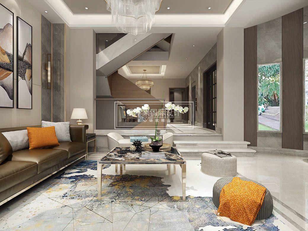 九龙仓国宾一号425平米风格现代农村客厅装修自911建×别墅别墅图片
