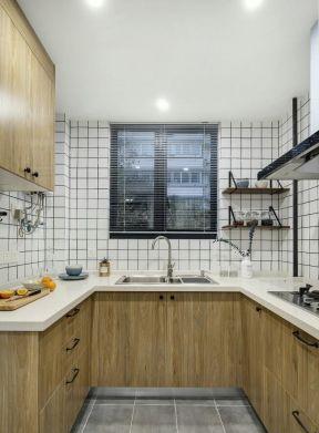 北欧风格u型小厨房装修设计图片