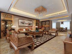 新中式風格客廳燈具布置效果圖