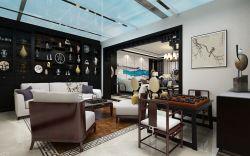 新中式風格別墅茶室裝修效果圖