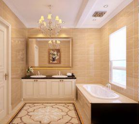 2018家居大浴室背景墙装修设计效果图